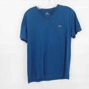 Vintage Lacoste royal blue v neck t shirt
